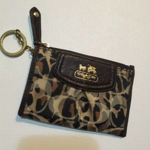Coach Small Change Purse With Care Instructions